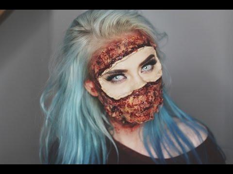 PEELED OFF SKIN Halloween Makeup Tutorial