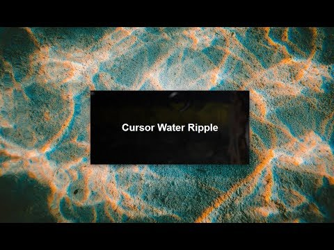 Cursor Liquid Water Ripple with jQuery