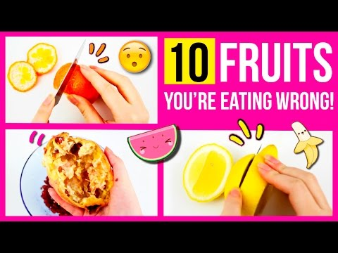 10 FRUITS you're eating WRONG 🍉 Super EASY Tricks and life hacks to eat FRUITS easily  🍊🍍
