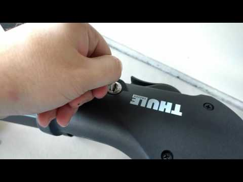 Unlocking Thule lock with the universal change key