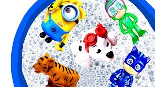 Learn Colors with Farm Animals and Surprise Toys For Kids - Learn Characters with Toys - For Kids