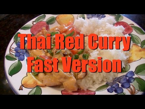 Easy Thai Red Curry, Fast Version