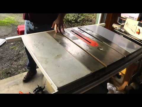 How To Clean A Rusty Table Saw