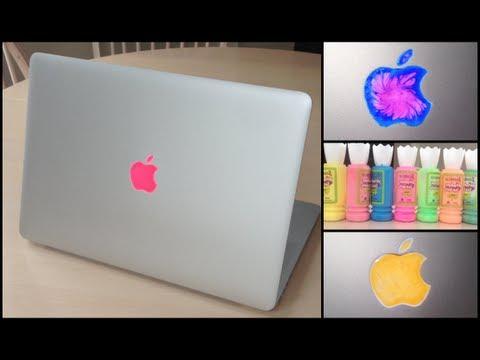 DIY MacBook Apple Sticker