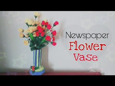 How to make Flower Vase from Newspaper || DIY paper crafts || Easy Flower Pot