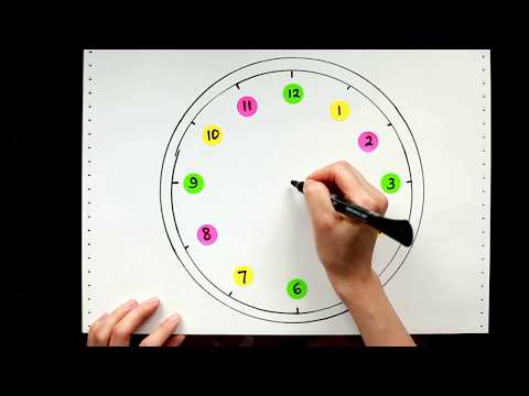 30: Kids' Tutorials - How to Draw a Cute Clock and Circle by Hand in 3 Minutes | Vivi Santoso