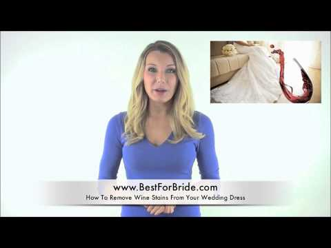 Wedding Expert Minute Tip 2 - How to Remove Wine Stains from your Wedding Dress