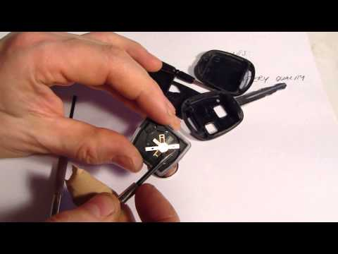 How to replace remote key battery Toyota Corolla. Years 2000 to 2010.