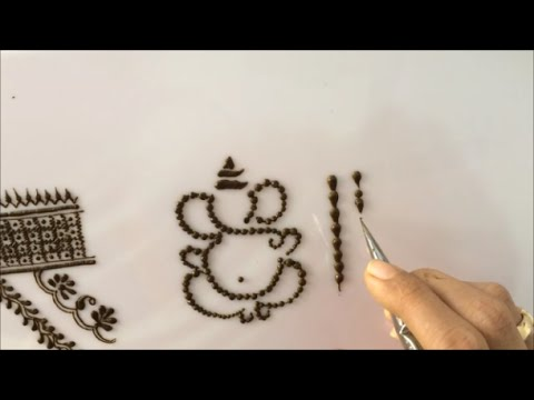 embellishment 7 : basic line embellishment and ganesha drawing with dotted line