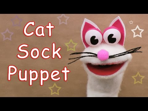 How to make a Cat Sock Puppet - Ana | DIY Crafts