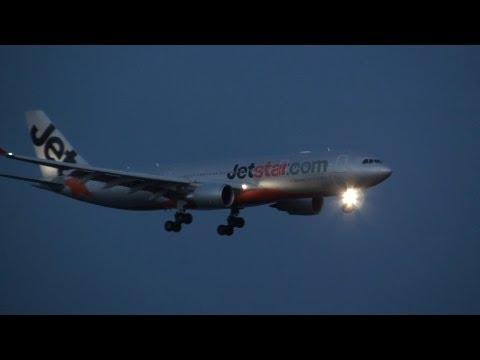 Jetstar Airways Airbus A330-200 VH-EBK Landing at KIX 24L