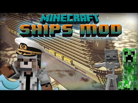 Ships Mod 1.7.10 Minecraft Mod Review, Build Sailable Ships!