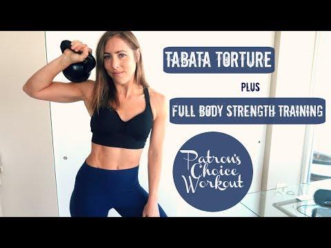 Tabata Torture + Full Body Strength Training