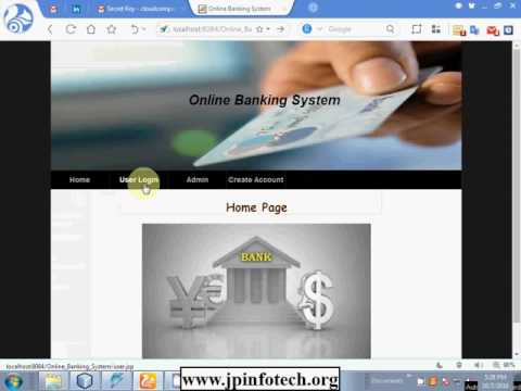 Web Based Online Banking System with Email OTP in Java   Java Application projects