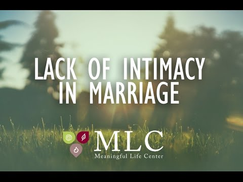 Meaningful Mondays - Lacking Intimacy in Marriage