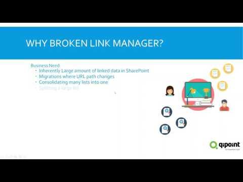 SharePoint Broken Link Manager Enterprise Webinar