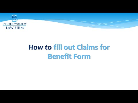 Virginia Workers' Compensation - How to fill out a claims for benefits