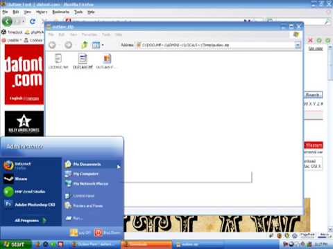 How to Install Fonts on Windows XP or Vista