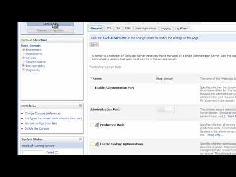 WebLogic Administration Port