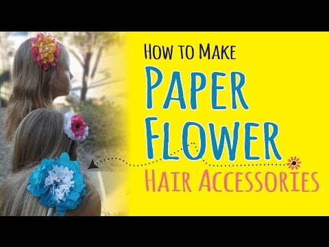 How to Make Tissue Paper Flower Headbands | DIY Hair Accessories | Kids Crafts