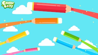 Color for Kids (Candybots) - Education Cartoon Video for Toddler learn Colors