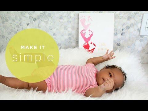 Make It Simple: Easy Footprint Art for Babies