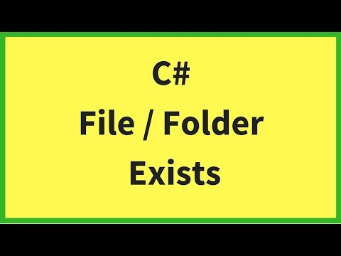 C# - How To Check If A File / Directory Exists Or Not Using C# In Visual Studio [ with source code ]