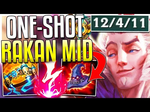 AP RAKAN IS DESTROYING CHALLENGERS MID?! One-Shot Burst OP! Rakan Mid Gameplay - League of Legends