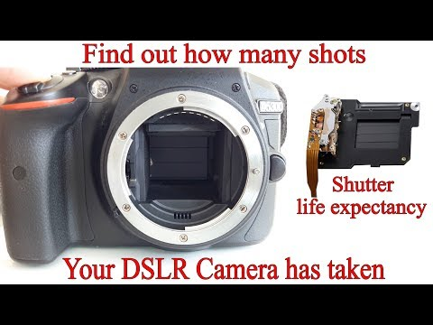 How to Check a DSLR's Shutter Count and Life Expectancy works for Nikon, Canon, Pentax, Samsung etc