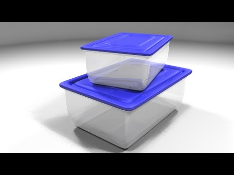 Maya tutorial : How to model Plastic containers