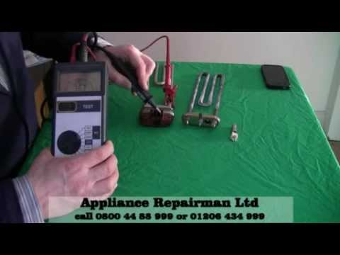 How to Test for continuity and insulation on a Wash heater Element