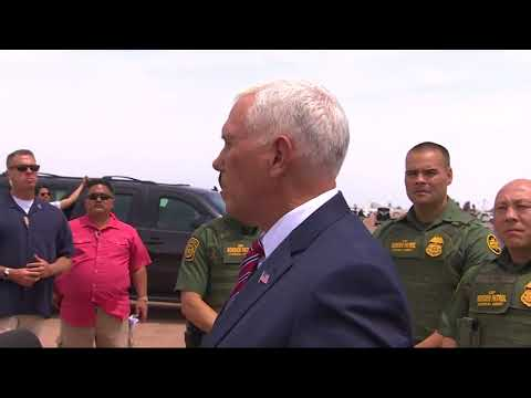 As Migrants Try To Cross, Pence Visits Border