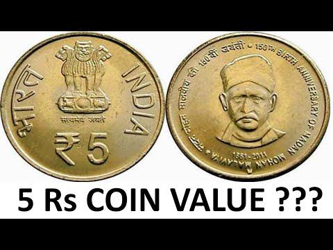 5 Rupee Commemorative Coins of India