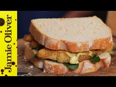 Southern Fried Fish Finger Sandwich | Aaron Craze