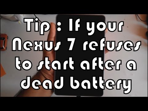 Nexus 7 tip: If it refuses to start after a dead battery(works for any Android)