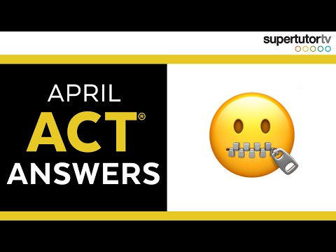 🤐 The Answers to this Month's ACT (TOP SECRET) 🤐