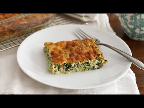 Eggs ,Cheese and Spinach Breakfast Casserole