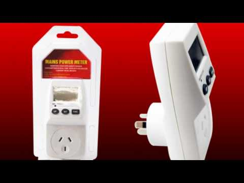 Mains Power Electricity Consumption Meter Monitor