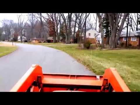 Driving around on the Kubota tractor