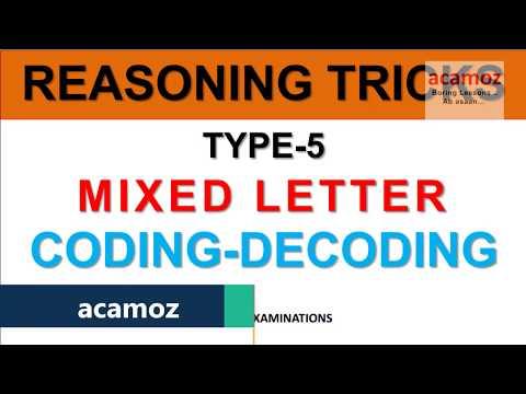 REASONING TRICKS CODING DECODING TYPE 5 in Hindi