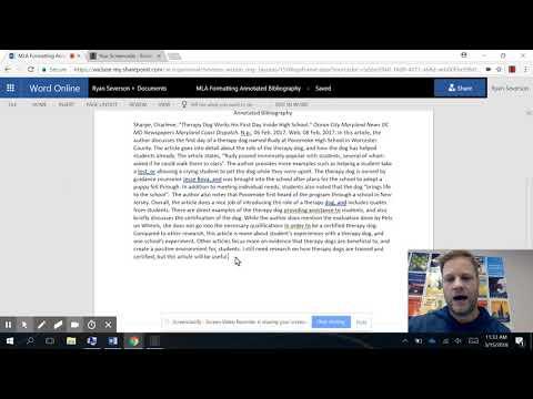 MLA Formatting Annotated Bibliography Google Docs