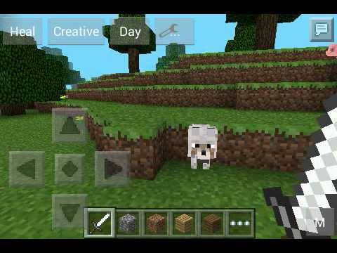 Minecraft pe Wolf and Ocelots!