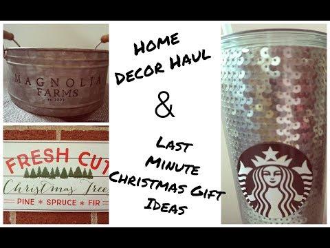Home Decor Haul & Last Minute Christmas Gift Ideas
