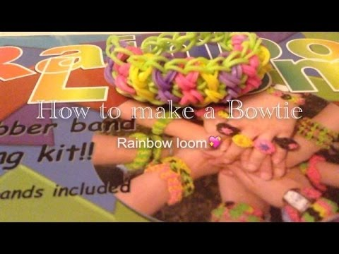 How to make a bow tie bracelet on the rainbow loom|Laura DD|