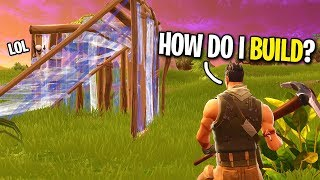 Pretending To Be A Fake Noob On Fortnite... (he Taught Me How To Build)