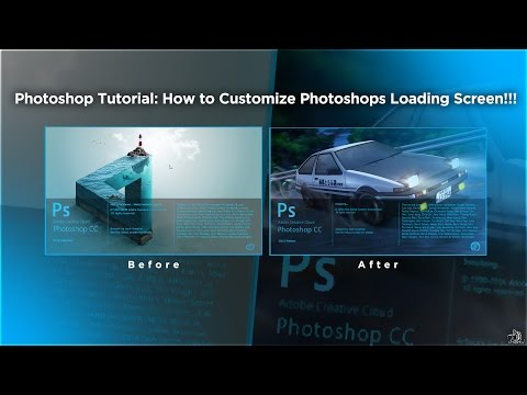 Photoshop CC Tutorial: How to Customize Photoshops Loading Screen!!! (Splash Screen)