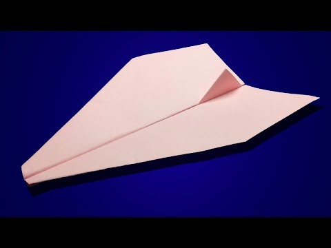 HOW TO MAKE PAPER AIRPLANE THAT FLIES FAR AND STRAIGHT STEP BY STEP!