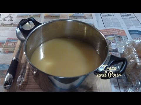 Soap Making 101 - Cold Process Trace and Pour