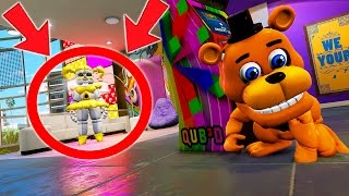 CAN ADVENTURE FREDDY HIDE FROM EVIL GOLDEN BABY? (GTA 5 Mods For Kids FNAF Funny Moments)