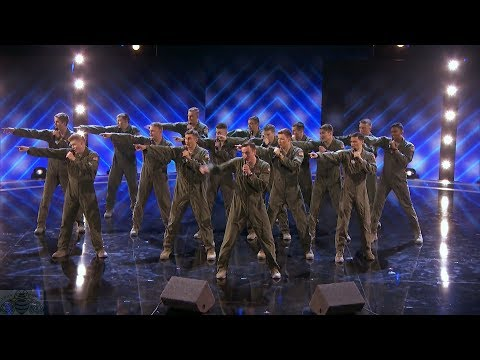 America's Got Talent 2017 In The Stairwell Airforce Acapella Judge Cuts S12E11